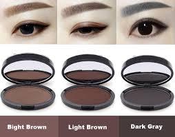 eyebrow powder. grey brown makeup eyebrow gel brow stamp powder seal waterproof eyes cosmetic black head brush tools