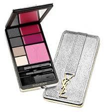 yves saint lau very ysl silver edition make up palette eyeshadow blush lip