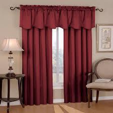 canova blackout burdy polyester curtain valance 21 in length