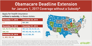 health insurance pers in the states identified above who still wish to enroll in coverage starting january 1 2017 should visit ehealth com or their