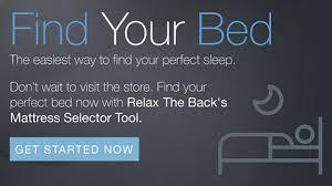 Tempurpedic Pillow Selector Chart Shop Tempur Pedic Mattresses Relax The Back
