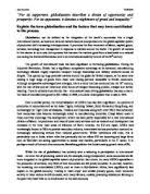 what do you understand by globalisation argue the case for and a2 macroeconomics globalisation essay