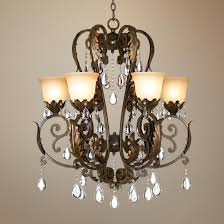 valentina iron leaf collection six light chandelier dining room chandelier