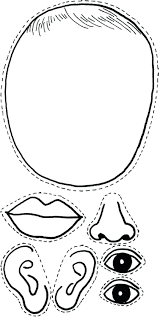 5 Senses Coloring Pages Body Parts Add Hands For Touch And Make A ...