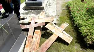 jakarta asianews two days ago someone pulled out damaged and burnt several wooden crosses at the bethesda cemetery in mrican yogyakarta