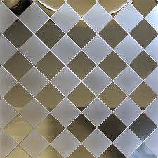Stainless Supply | Stainless Steel Diamond Quilted Pattern & D6TT - Two Tone Adamdwight.com