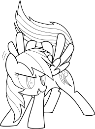 Small Picture Rainbow Dash Coloring Pages To Print Free Printable Rainbow Dash