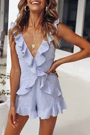 Summer Outfit Inspo - Lovely Summer Mini Jumpsuit #summeroutfit ...
