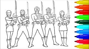 Power Rangers Samurai With Swords Coloring Pages Colouring Pages
