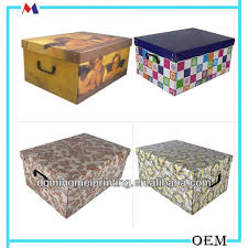 Decorative Cardboard Storage Boxes With Lids