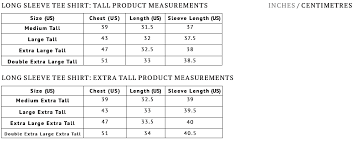 American Female Size Chart Tall Mens Clothing Size Chart American Tall