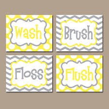on yellow bathroom wall art with yellow gray bathroom rules wall art canvas or prints boy girl