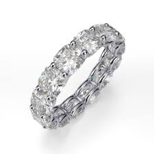 eternity bands 5 00 carat cushion cut diamonds 14k white gold dia