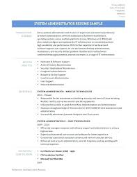 Administrative Resume Template Inspiration System Administrator Resume Template System Network Administrator