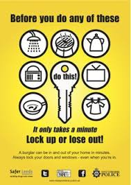 lock your door. Security Tip: Always Lock Your Door And Windows C