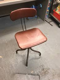 vintage office chair. Vintage Office Factory Workers Swivel Chair 0