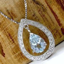 no reserve 14kt white gold 1 25 ct aquamarine 0 15 ct diamond