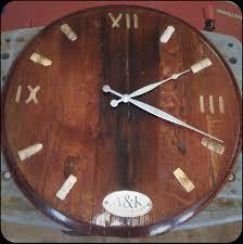 furniture made from wine barrels. Barrel Head Clock Furniture Made From Wine Barrels