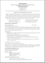 Resume Sample Sales Executive Resume