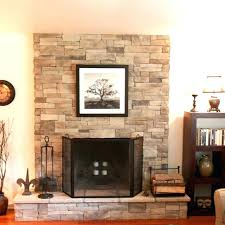 how to install stacked stone fireplace build fireplace surround