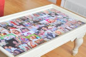 DIY Photo Collage Coffee Table