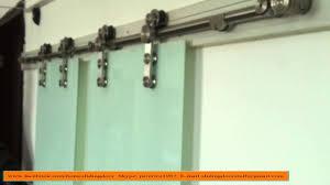 Hanging Sliding Door Kit Top Hung Symmetric Synchronous Barn Door Hardware Sliding System