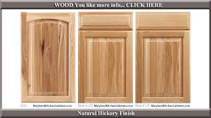 613 Natural Hickory Finish Cabinet Door Style Hickory Wood Cabinets E29