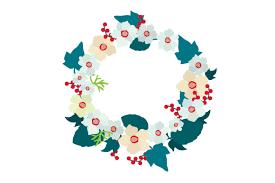 Floral Wreath Svg Cut File By Creative Fabrica Crafts Creative Fabrica