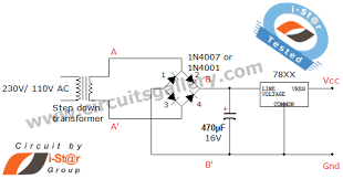 bridge rectifier regulated lab power supply circuit schematics circuit diagram rectifier power supply
