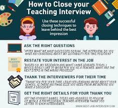 Best Questions To Ask After An Interview 10 Top Teacher Interview Tips