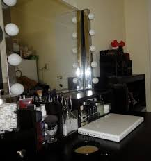makeup vanity lighting ideas. Furniture: Fine Diy Makeup Vanity Lighting Idea Featuring Chromed Paneled Bulb Board And Square Mirror Ideas 2