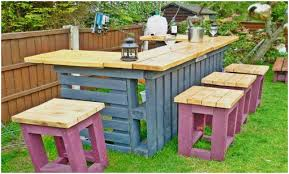 Bar Made Out Of Pallets Backyards Gorgeous Outdoor Tiki Bar Made With Repurposed Pallets