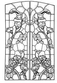Coloring Page Of Stained Glass Drawing