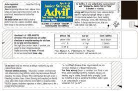 Junior Strength Advil By Pfizer Consumer Healthcare