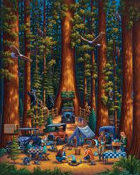 redwood national park eagles jigsaw puzzle