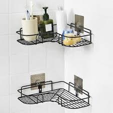 <b>Triangular</b> Shower Caddy Shelf Bathroom <b>Corner</b> Bath Storage ...