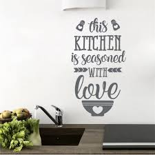 this kitchen is seasoned with love kitchen wall e wall art sticker