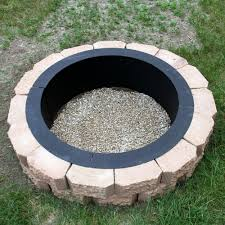 round steel fire pit rim 27 wood burning outdoor bowl natural gas