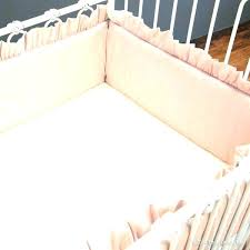 blush and gold crib bedding ivory set pink cream faux
