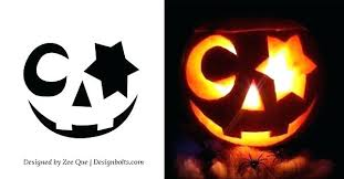 Pumpkin Carving Pattern Impressive Cute Pumpkin Stencils Funny Free Easy Faces Proinsarco