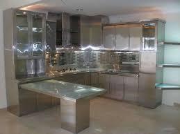 Stainless Steel Kitchen Kitchen Elegant Plaid Stainless Steel Backsplash Design Ideas