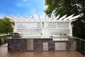 Outdoor Kitchen Designs Grill And Cooking Space Ideas For Custom Deck