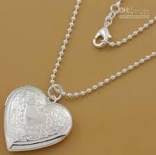 silver heart locket beautiful whole hot 925 silver heart locket pendant necklace pn509