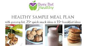 Healthy Sample Meal Plan - Busy But Healthy
