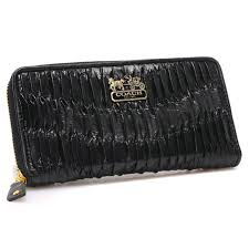 Coach Accordion Zip In Gathered Twist Large Black Wallets - Coach Monogram  Bleecker Backpacks - Click.