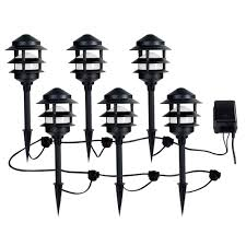 ce tech low voltage black audio path light kit with bluetooth technology 6