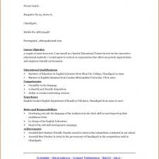 Sample Resume For English Teaching Job In India Best Inspiration ...