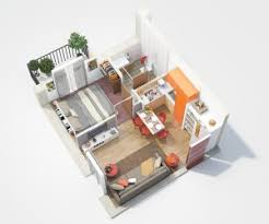 Small Picture 1 Bedroom ApartmentHouse Plans
