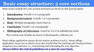 writing an a college essay paper basic essay