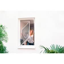 Tesa Fliegengitter Alu Rahmen Comfort Fenster Weiß 120 Cm X 100 Cm